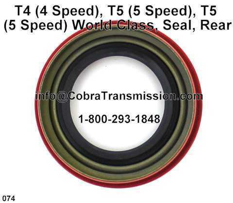 T4 (4 Speed), T5 (5 Speed), T5 (5 Speed) World Class, Seal, Rear