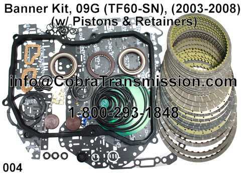 Banner Kit, 09G (TF60-SN), (2003-2008) (w/ Pistons & Retainers)