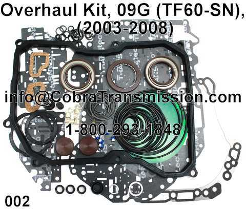 Overhaul Kit, 09G (TF60-SN), (03-Up)