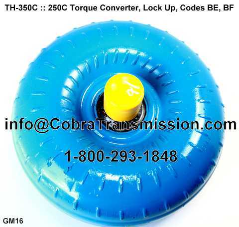 TH-350C, 250C Torque Converter Lock Up