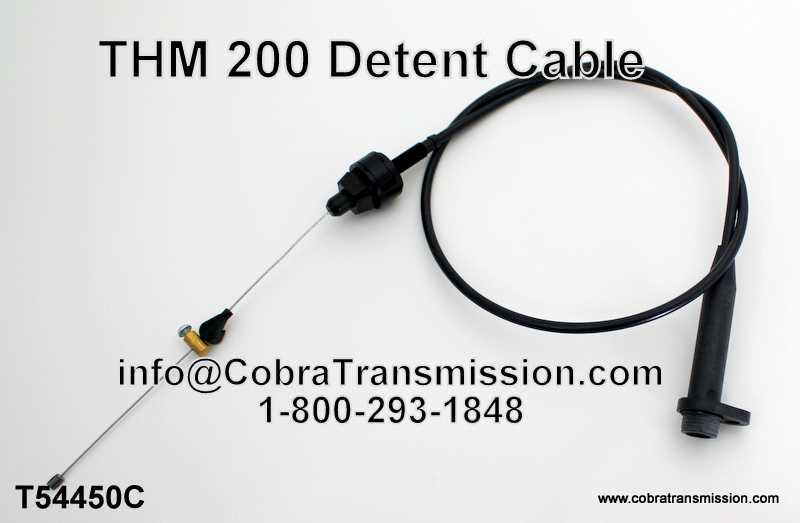 THM 200, Detent Cable