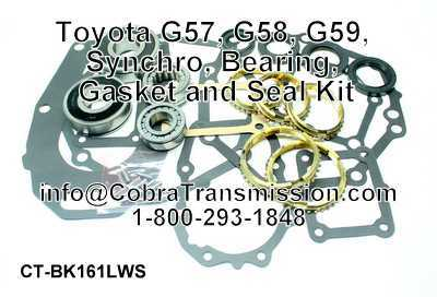 Toyota G57, G58, G59, Synchro, Bearing, Gasket and Seal Kit