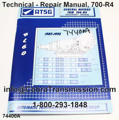 Technical - Repair Manual, 700-R4