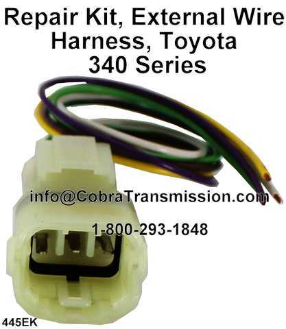 Toyota 340 External Wire Harness 6 prong solenoid, sensor , cobra transmission Toyota Wire Harness Repair Kit at virtualis.co