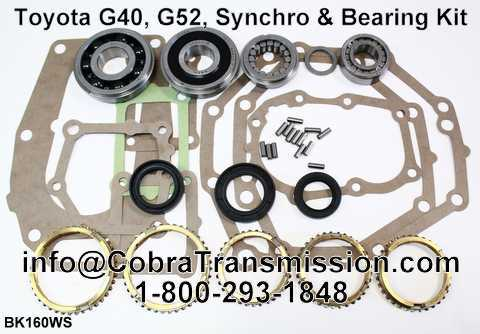 Toyota G40, G52, Synchro, Bearing, Gasket and Seal Kit