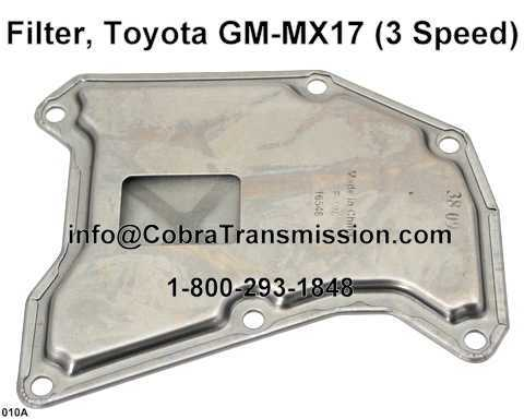 Filtro, Toyota GM-MX17 (3 Speed)