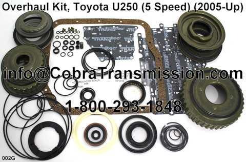Overhaul Kit, Toyota U250 (5 Speed) (2005-Up)