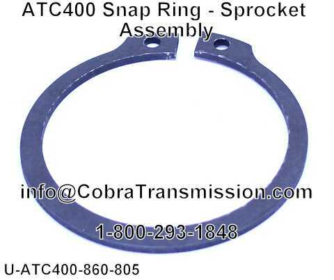 ATC400 Snap Ring - Sprocket Assembly