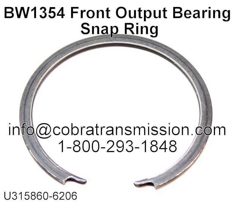 BW1354 Front Output Bearing Snap Ring