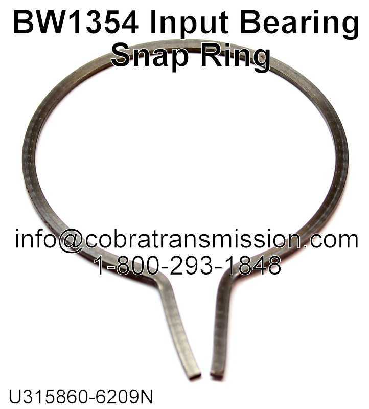 BW1354 Input Bearing Snap Ring