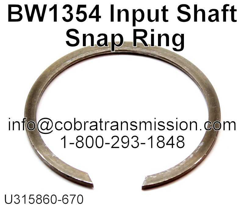 BW1354 Input Shaft Snap Ring