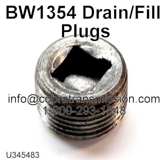 BW1354, BW4416 Drain/Fill Plugs