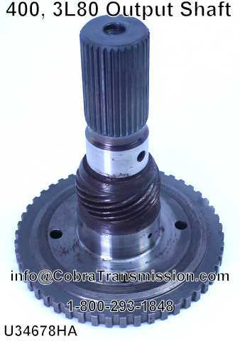 400, 3L80 Output Shaft