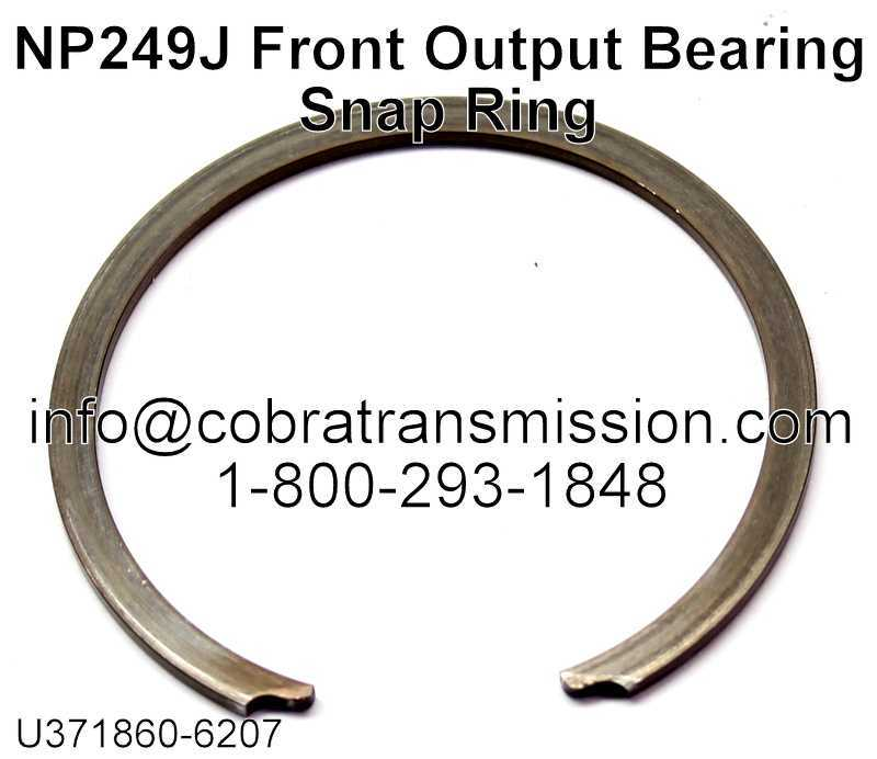 NP249J Front Output Bearing Snap Ring