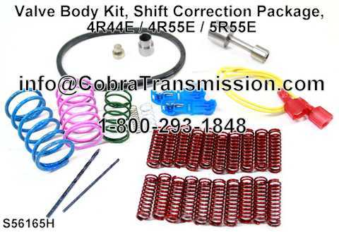 Valve Body Kit, Shift Correction Package, 4R44E / 4R55E / 5R55E