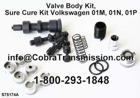 Valve Body Kit, Sure Cure Kit Volkswagen 01M, 01N, 01P