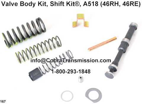 Valve Body Kit, Shift Kit®, A518 (46RH, 46RE)