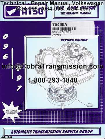 technical repair manual volkswagen ag4 095 ag4 096 ag4 097 rh cobratransmission com VW Jetta Transmission Parts VW Beetle Transmission