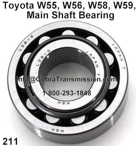 Toyota W55, W56, W58, W59, Main Shaft Bearing