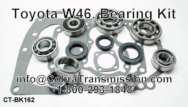 W46 (4 Speed) (Rwd), Bearing Kit, 2wd, 4wd Pickup 83-90 (2.4L) I