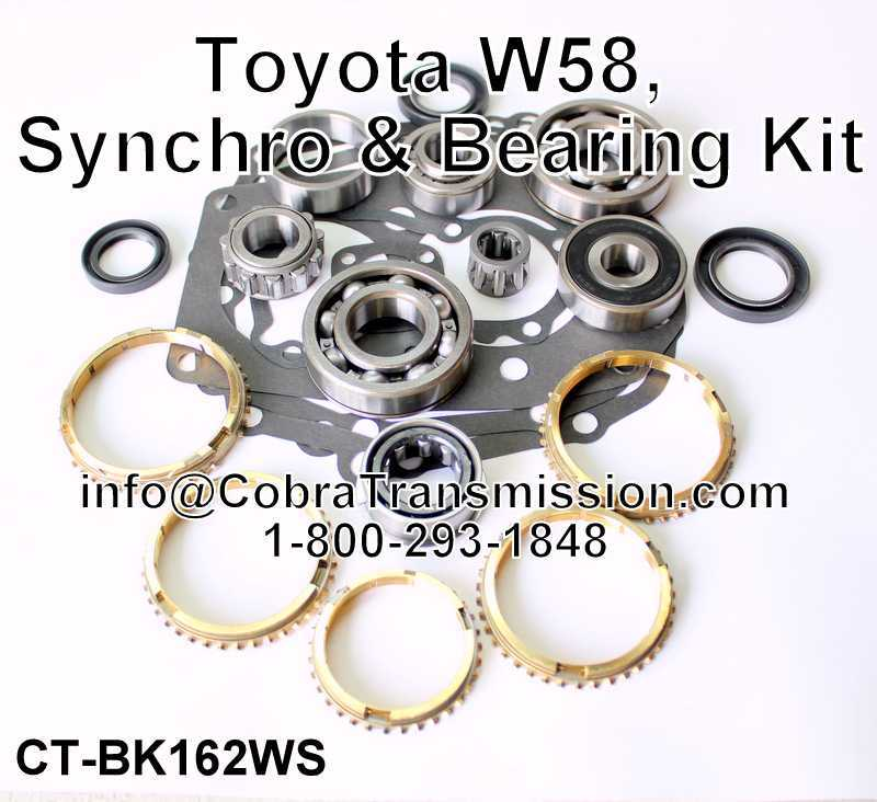 Toyota W58, Synchro, Bearing, Gasket and Seal Kit