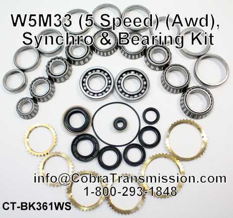 W5M33 Synchro, Bearing, Gasket and Seal Kit