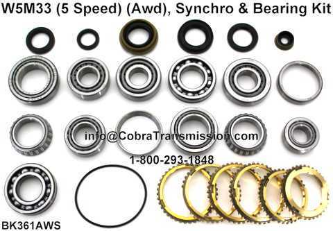 W5M33 (5 Speed) (AWD) Synchro, Bearing, Gasket and Seal Kit