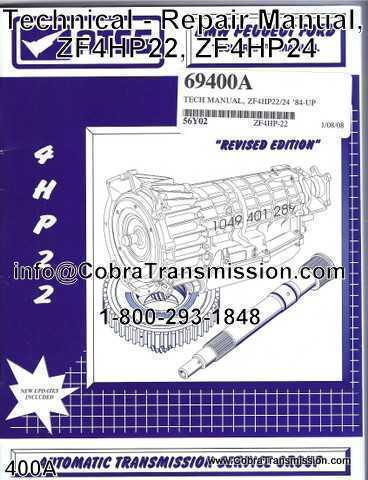 Technical - Repair Manual, ZF4HP22, ZF4HP24