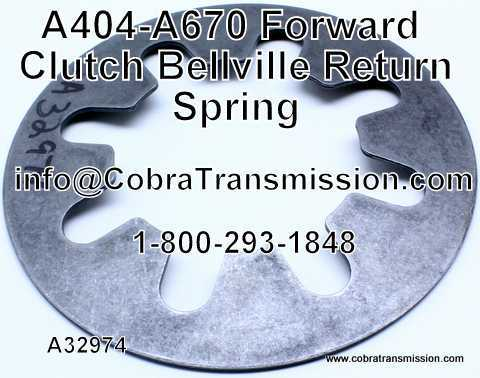 A404 - A670 Spring, Forward Clutch Bellville Return Spring