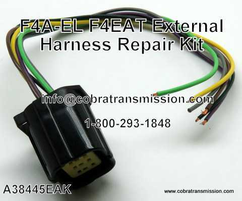 a38445eak f4a el 4eat repair kit solenoid, sensor , cobra transmission Toyota Wire Harness Repair Kit at eliteediting.co