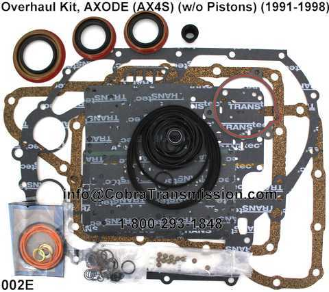 Overhaul Kit, AXODE (AX4S) (w/o Pistons) (1991-1998)