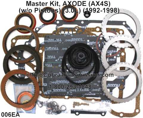Master Kit, AXODE (AX4S) (w/o Pistons) (3.0L) (1992-1998)