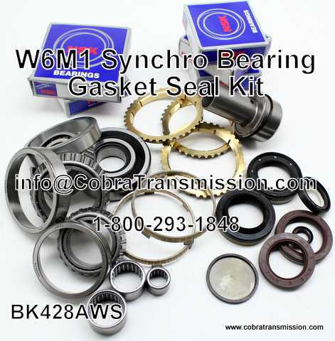W6MG1 Synchro, Bearing, Gasket and Seal Kit
