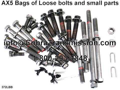 AX5 Bags of Loose bolts and small parts.