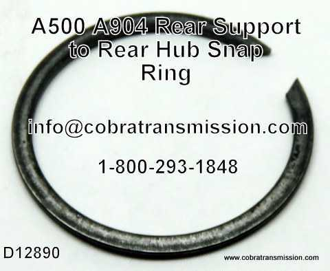 A500 Snap Ring, Rear Support to Rear Hub