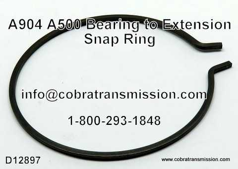 A500 Snap Ring, Bearing to Extension Housing (w/ 2 Ears)