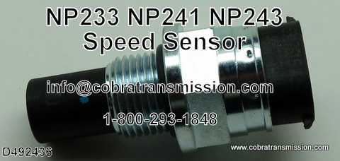 NP 241, Speed Sensor