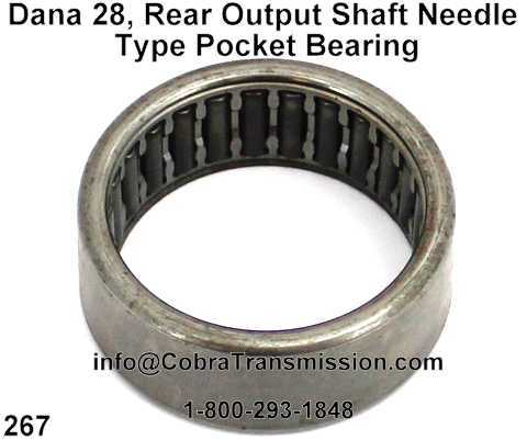Dana 28, Rear Output Shaft Needle Type Pocket Bearing