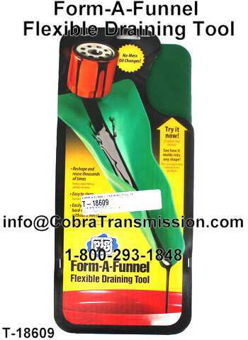 Form-A-Funnel Flexible Draining Tool