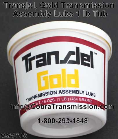 Transjel, Gold Transmission Assembly Lube 1 lb Tub