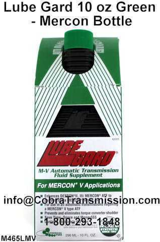 Lube Gard 10 oz Green - Mercon Bottle