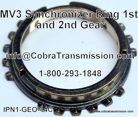 MV3 Synchronizer Ring - 1st and 2nd Gear