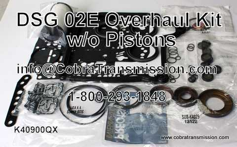 DSG, 02E Overhaul Kit w/o Pistons