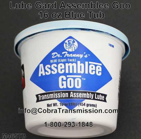 Lube Gard Assemblee Goo 16 oz Blue Tub