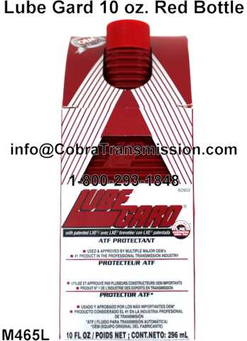 Lube Gard 10 oz. Red Bottle