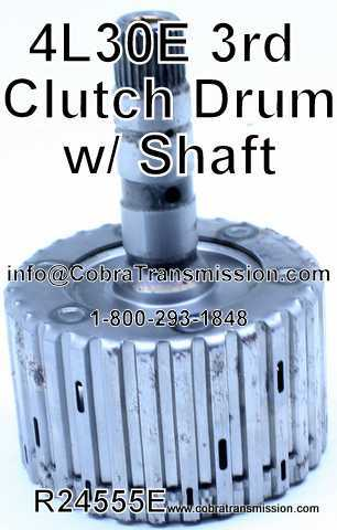 4L30E Drum, 3rd Clutch Drum with Shaft