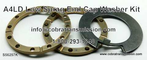 A4LD,4R44E, 5R44E Low Sprag End Cap & Washer Kit