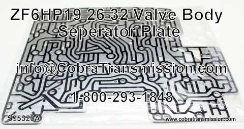ZF6HP19/26/32 Valve Body Separator Plate