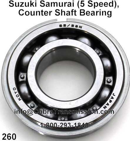 Suzuki Samurai (5 Speed), Counter Shaft Bearing