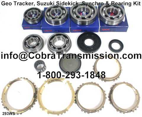 Geo Tracker, Suzuki Sidekick, Synchro, Bearing, Gasket and Seal
